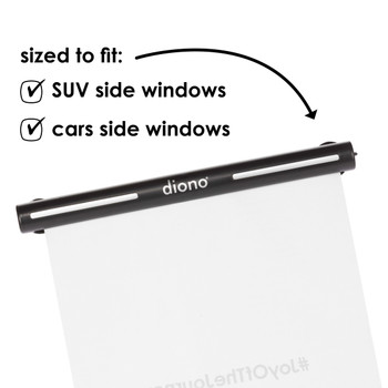 Diono Heatblock is sized to fit SUV side windows and other cars side windows [Black]