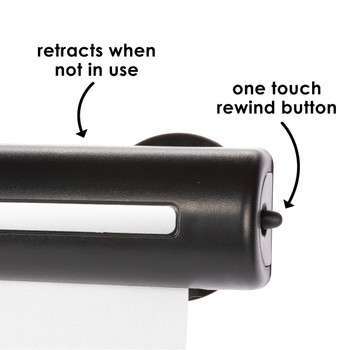 Diono Heatblock can retract when not in use with a one touch rewind button [Black]