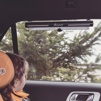 Diono Heatblock Car Roller Sun shade for Baby, Kids, Pets, Retractable Car Window Sun Shade for Blocking Sun Glare, UV Rays, Keeps Car Cool [Black]