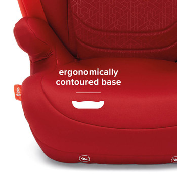Ergonomically contoured base [Red]