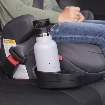 Integrated retractable cup holder [Red]