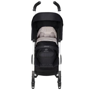 Newborn Pod, Stroller Footmuff For Baby shown on stroller [Black Midnight]
