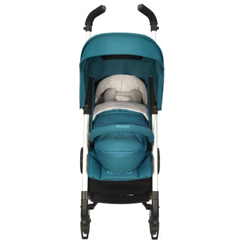 Newborn Pod, Stroller Footmuff For Baby shown on stroller [Blue Turquoise]