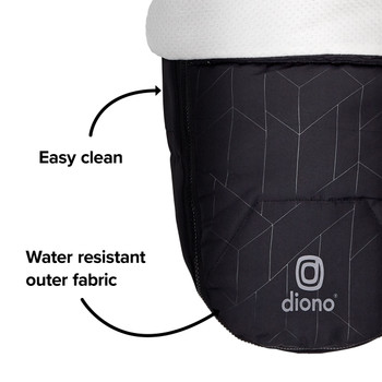 Easy clean, water resistant outer fabric [Black Midnight]