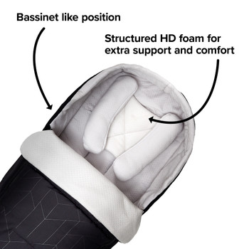 Creates a bassinet like position, fully supportive with HD foam [Black Midnight]