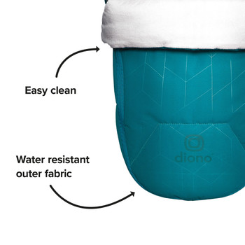 Easy clean, water resistant outer fabric [Blue Turquoise]