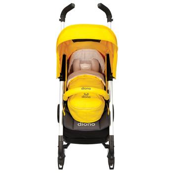 Newborn Pod, Stroller Footmuff For Baby shown on stroller [Yellow Sulphur]