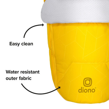 Easy clean, water resistant outer fabric [Yellow Sulphur]