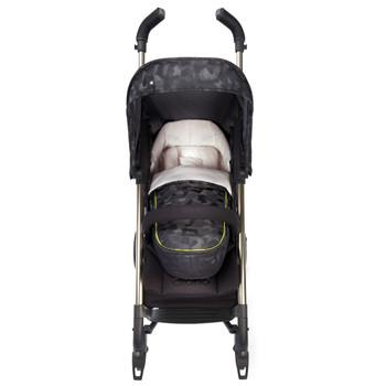 Newborn Pod, Luxury Stroller Footmuff For Baby shown on stroller [Black Camo]
