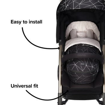 Easy to install and universal fit compatible with most strollers  [Black Platinum]