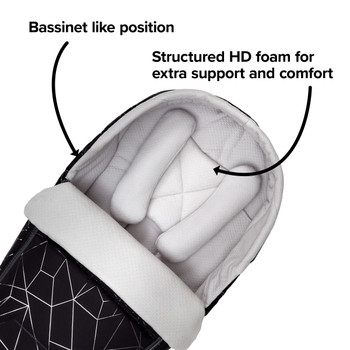 Creates a bassinet like position, fully supportive with HD foam [Black Platinum]