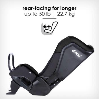 rear-facing for longer up to 22.7 kg [Black Jet]