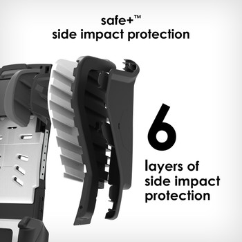 6 layers side impact protection [Black Jet]