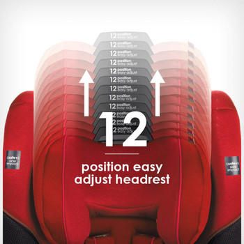 12 position easy adjust head rest [Red Cherry]