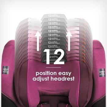 12 position easy adjust head rest [Purple Plum]