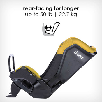 rear-facing for longer up to 22.7 kg [Yellow Mineral]
