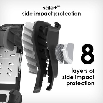 8 layers side impact protection [Black Jet]