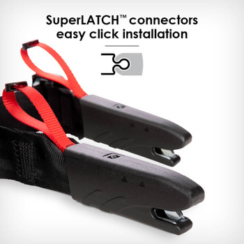 SuperLATCH connectors for quick and easy installation [Red Cherry]