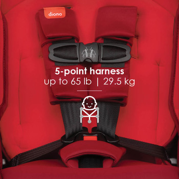 5-point harness up to 29.5 kg / 65 lb [Red Cherry]