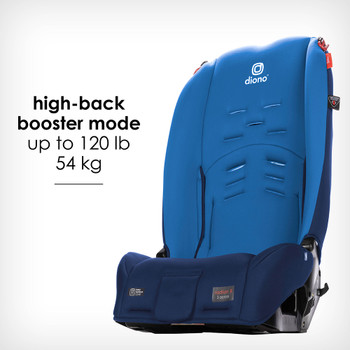 New high back booster mode up to 54 kg / 120 lb [Blue Sky]