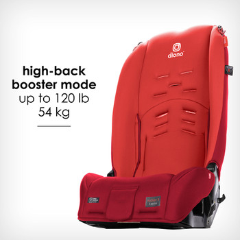 New high back booster mode up to 54 kg / 120 lb [Red Cherry]