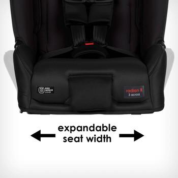 Expandable seat width [Black Jet]