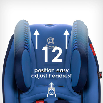 Easy adjust 12 position head rest [Blue Sky]