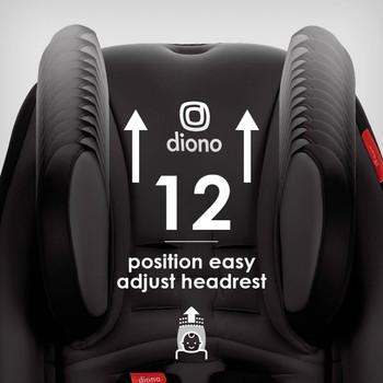 Easy adjust 12 position head rest [Gray Slate]