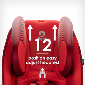 Easy adjust 12 position head rest [Red Cherry]