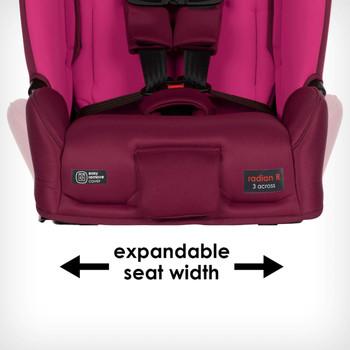 Expandable seat width  [Purple Plum]