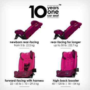10 years one car seat  [Purple Plum]