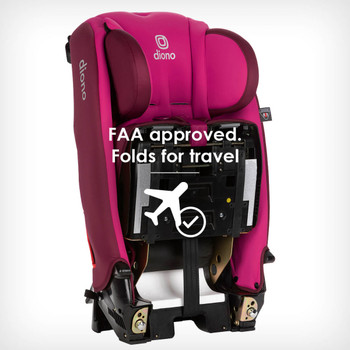 FAA approved folds for travel  [Purple Plum]