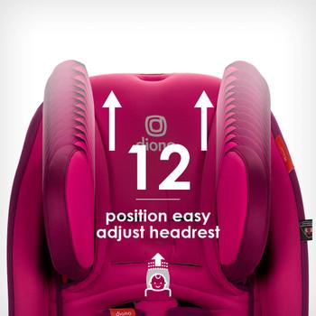 Easy adjust 12 position head rest  [Purple Plum]