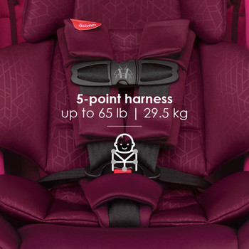 5-point harness up to 29.5 kg / 65 lb  [Purple Plum]