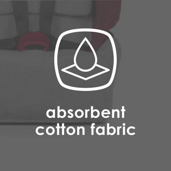 Diono Car Seat Summer Cover - Absorbent cotton fabric [Gray]