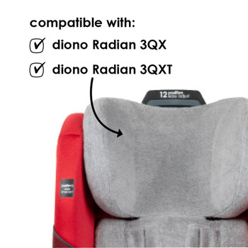 Diono Car Seat Summer Cover - Compatible with the Radian 3QX and 3QXT [Gray]