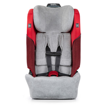 Diono Car Seat Summer Cover - Front on image of car seat with cover [Gray]