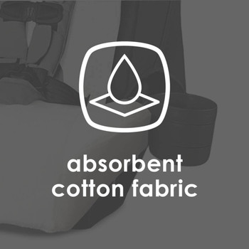 Diono Car Seat Summer Cover - Absorbent cotton fabric [White]