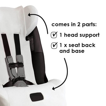 Diono Car Seat Summer Cover - Comes in 2 parts, 1 head support cover and 1 seat back and base [White]
