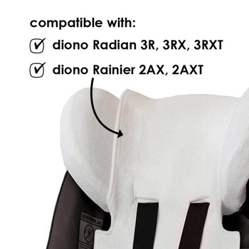 Diono Car Seat Summer Cover - Compatible with Radian R Series and Rainier Car Seats [White]