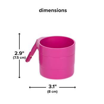 Diono Car Seat Cup Holders - Dimensions [Purple Plum]