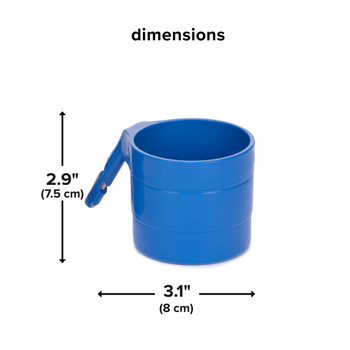 Diono Car Seat Cup Holders - Dimensions [Blue Sky]