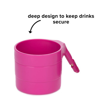 Diono Car Seat Cup Holders - Deep design to keep drinks secure [Purple Plum]