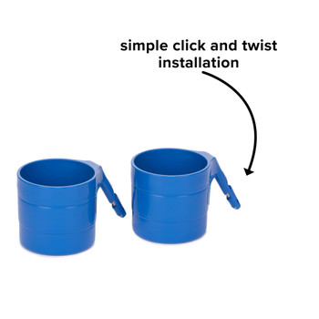Diono Car Seat Cup Holders - Simple click and twist installation [Blue Sky]