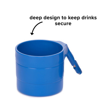Diono Car Seat Cup Holders - Deep design to keep drinks secure  [Blue Sky]