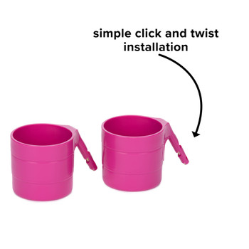 Diono Car Seat Cup Holders - Simple click and twist installation [Purple Plum]