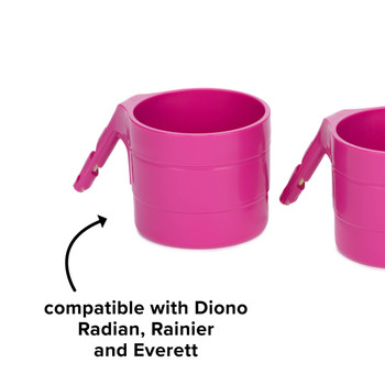 Diono Car Seat Cup Holders - Compatible with Diono Radian, Rainier and Everett [Purple Plum]