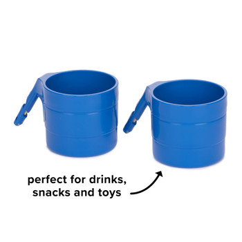 Diono Car Seat Cup Holders - Perfect for snacks, drinks and toys [Blue Sky]