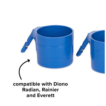 Diono Car Seat Cup Holders - Compatible with Diono Radian, Rainier and Everett [Blue Sky]