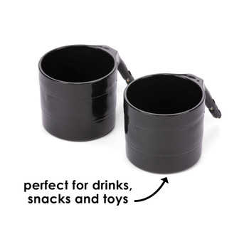 Diono Car Seat Cup Holders - Perfect for snacks, drinks and toys [Black]
